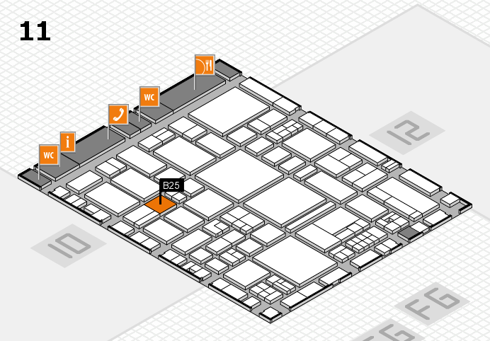 EuroShop 2017 hall map (Hall 11): stand B25