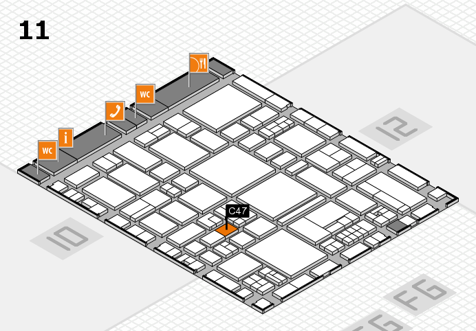 EuroShop 2017 hall map (Hall 11): stand C47