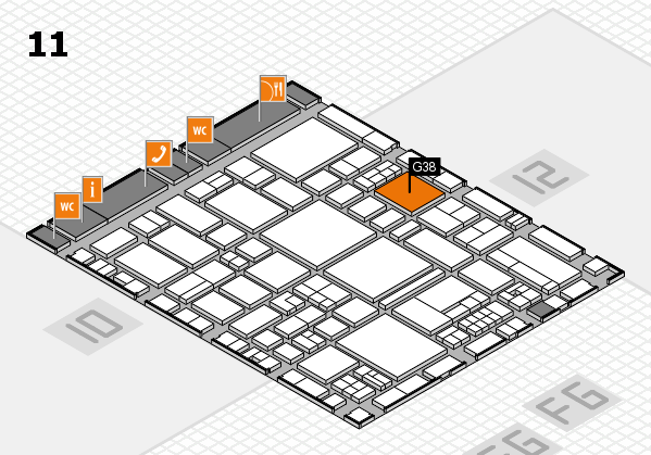 EuroShop 2017 hall map (Hall 11): stand G38