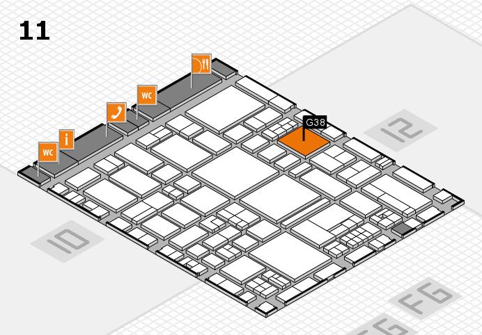 EuroShop 2017 hall map (Hall 11): stand G38