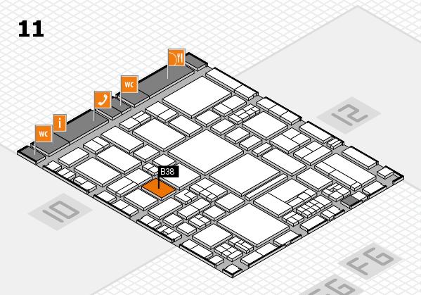 EuroShop 2017 hall map (Hall 11): stand B38