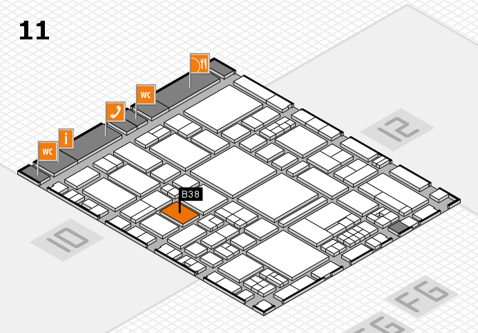 EuroShop 2017 hall map (Hall 11): stand B38