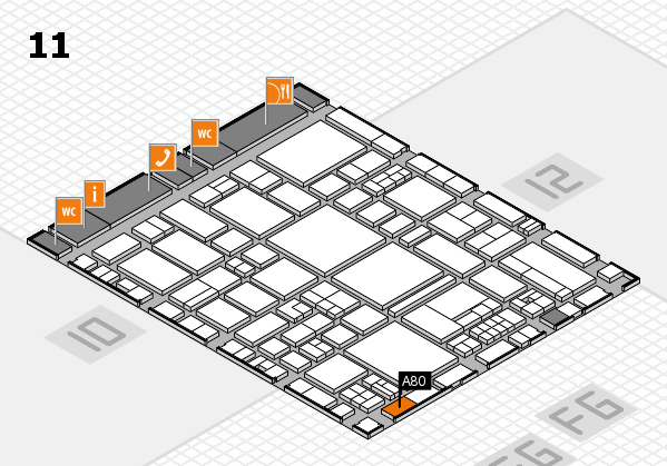 EuroShop 2017 hall map (Hall 11): stand A80