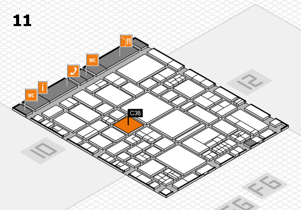 EuroShop 2017 hall map (Hall 11): stand C38