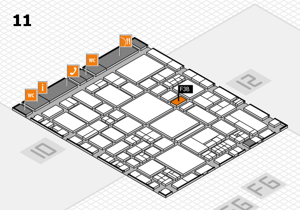 EuroShop 2017 hall map (Hall 11): stand F38