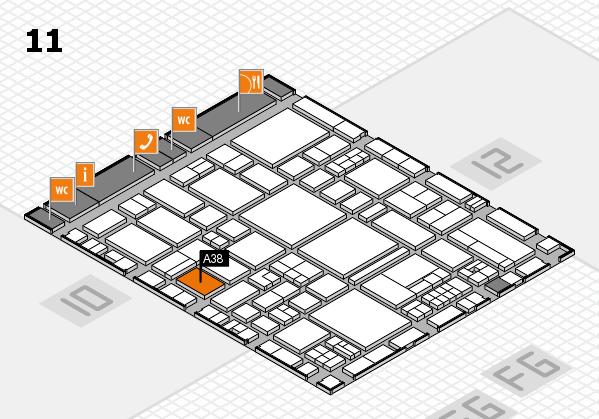 EuroShop 2017 hall map (Hall 11): stand A38