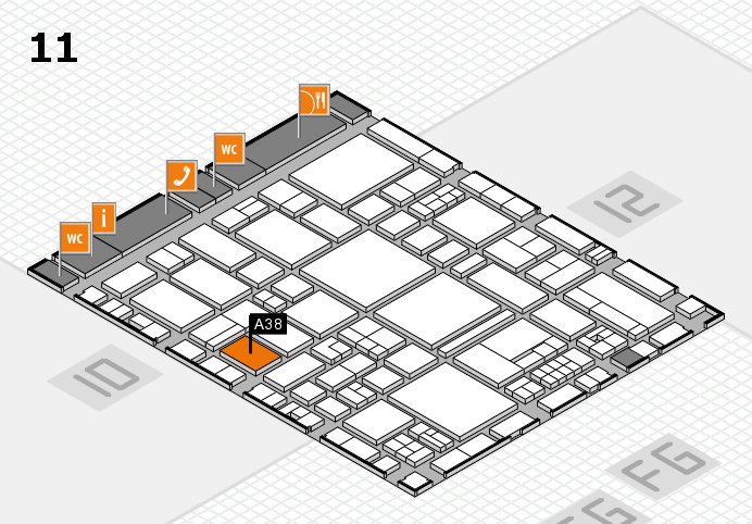 EuroShop 2017 hall map (Hall 11): stand A38