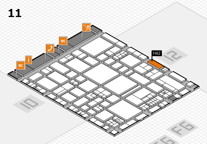 EuroShop 2017 hall map (Hall 11): stand H42