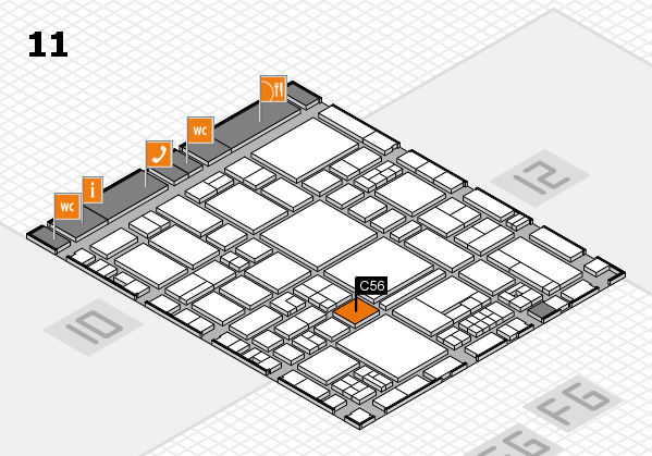 EuroShop 2017 hall map (Hall 11): stand C56