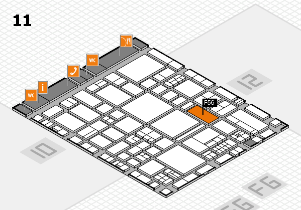 EuroShop 2017 hall map (Hall 11): stand F56