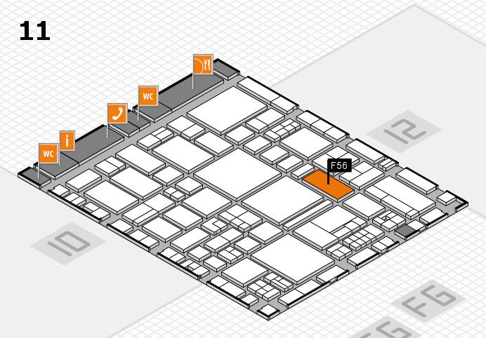 EuroShop 2017 hall map (Hall 11): stand F56