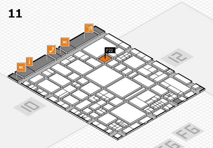 EuroShop 2017 hall map (Hall 11): stand F22