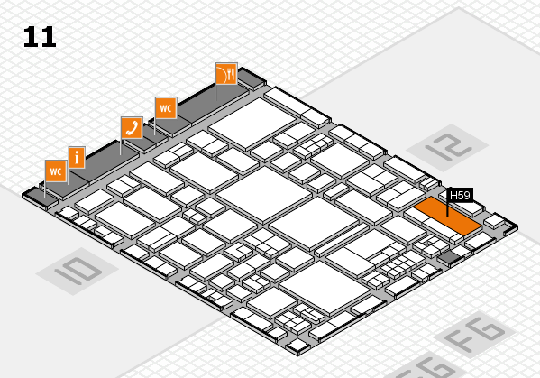 EuroShop 2017 hall map (Hall 11): stand H59