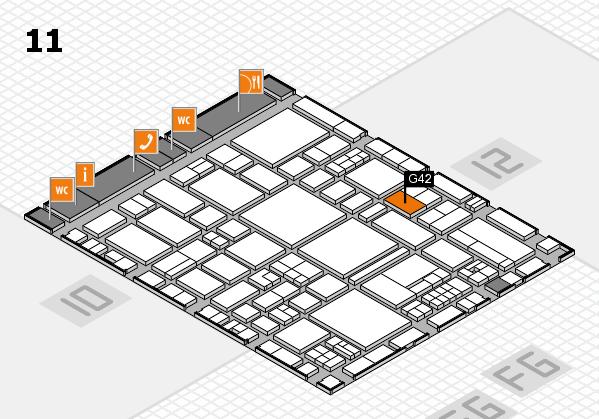 EuroShop 2017 hall map (Hall 11): stand G42