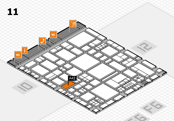 EuroShop 2017 hall map (Hall 11): stand A42