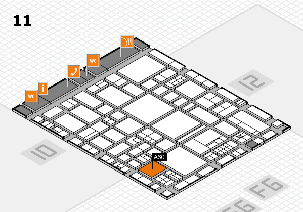 EuroShop 2017 hall map (Hall 11): stand A60