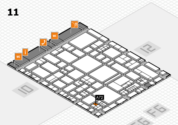 EuroShop 2017 hall map (Hall 11): stand A72
