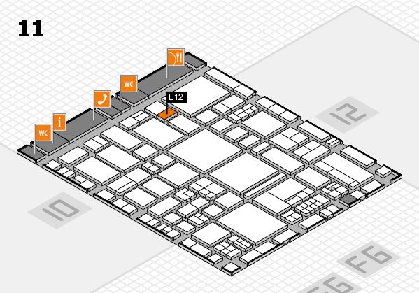 EuroShop 2017 hall map (Hall 11): stand E12