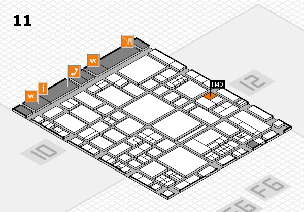 EuroShop 2017 hall map (Hall 11): stand H40