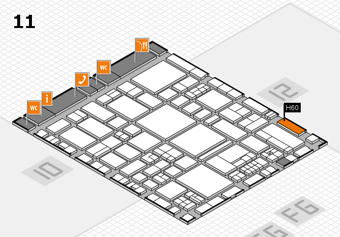 EuroShop 2017 hall map (Hall 11): stand H60