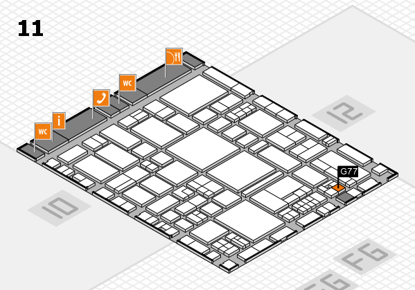 EuroShop 2017 hall map (Hall 11): stand G77
