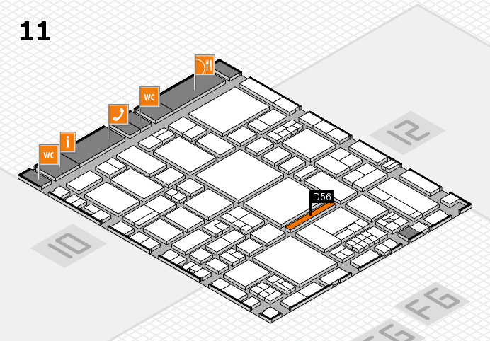 EuroShop 2017 hall map (Hall 11): stand D56