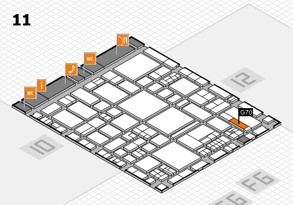 EuroShop 2017 hall map (Hall 11): stand G70