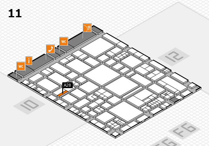 EuroShop 2017 hall map (Hall 11): stand A28