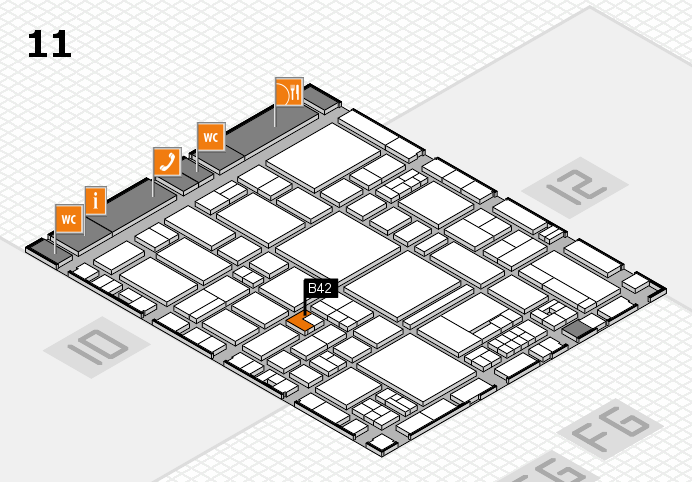 EuroShop 2017 hall map (Hall 11): stand B42