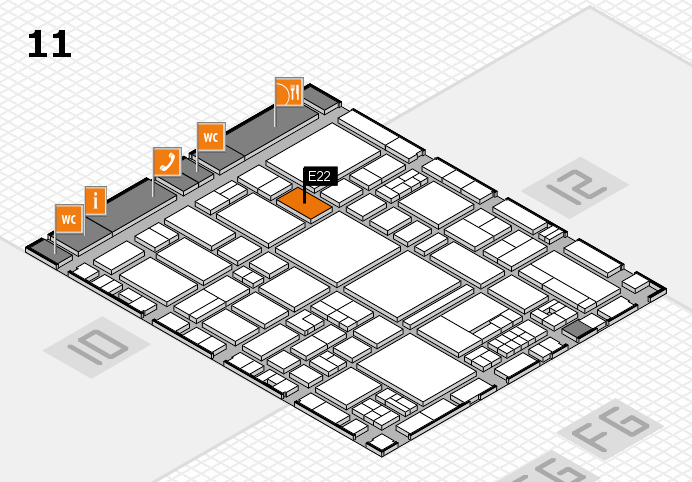 EuroShop 2017 hall map (Hall 11): stand E22