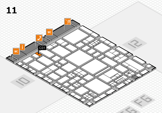 EuroShop 2017 hall map (Hall 11): stand C01