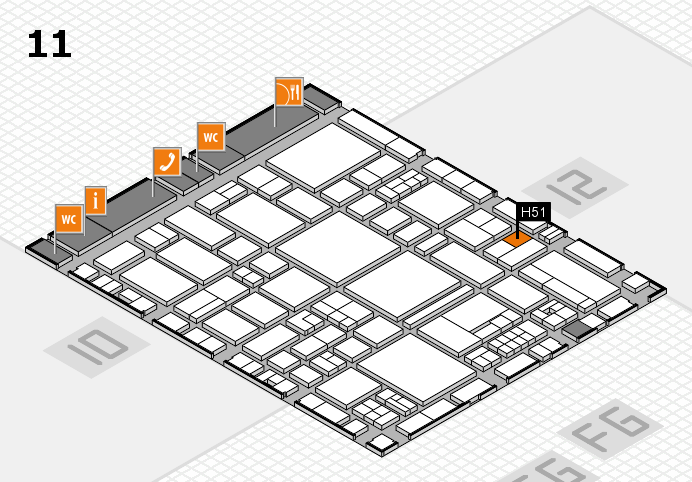 EuroShop 2017 hall map (Hall 11): stand H51
