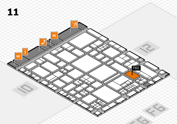 EuroShop 2017 hall map (Hall 11): stand F60