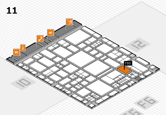 EuroShop 2017 hall map (Hall 11): stand F60