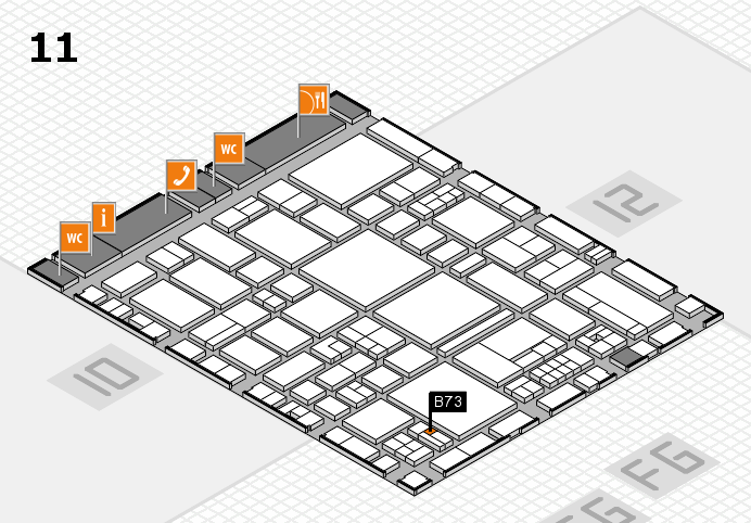 EuroShop 2017 hall map (Hall 11): stand B73