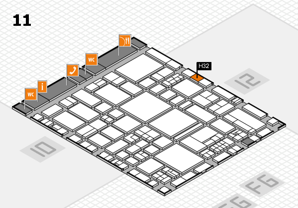 EuroShop 2017 hall map (Hall 11): stand H32