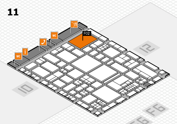 EuroShop 2017 hall map (Hall 11): stand F02