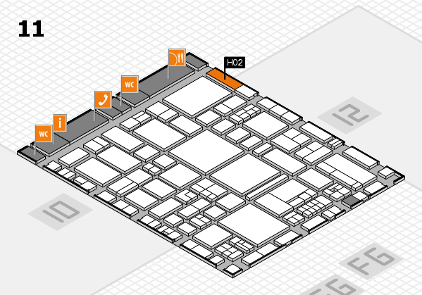 EuroShop 2017 hall map (Hall 11): stand H02