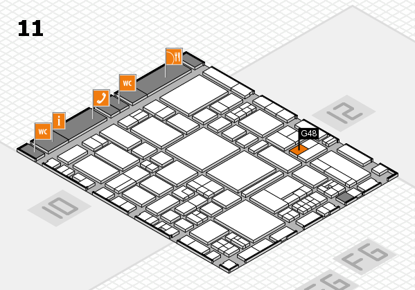 EuroShop 2017 hall map (Hall 11): stand G48