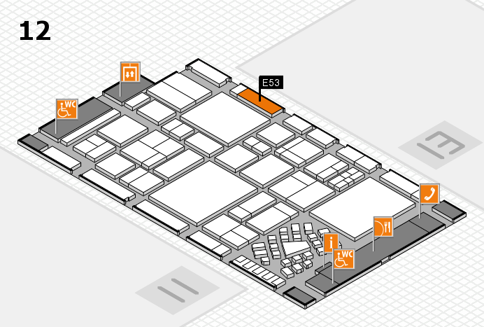 EuroShop 2017 hall map (Hall 12): stand E53