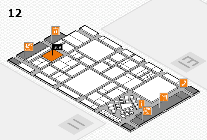 EuroShop 2017 hall map (Hall 12): stand B69