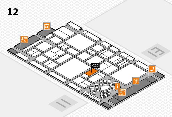 EuroShop 2017 hall map (Hall 12): stand C32