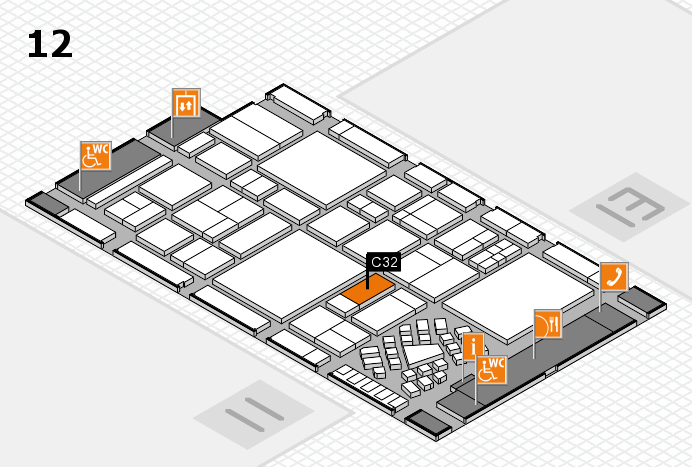 EuroShop 2017 hall map (Hall 12): stand C32