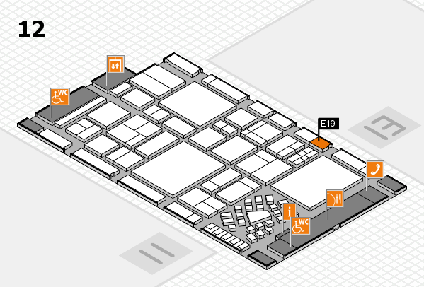 EuroShop 2017 hall map (Hall 12): stand E19