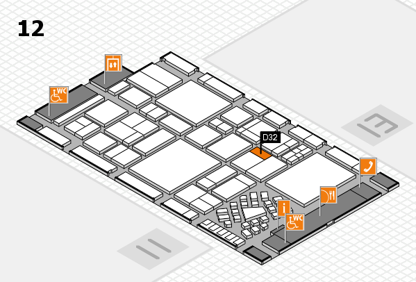 EuroShop 2017 hall map (Hall 12): stand D32