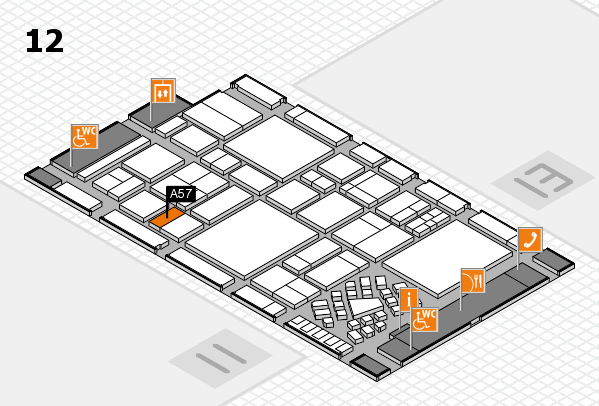 EuroShop 2017 hall map (Hall 12): stand A57