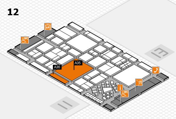 EuroShop 2017 hall map (Hall 12): stand A35, stand A36