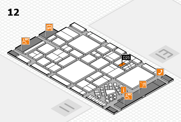 EuroShop 2017 hall map (Hall 12): stand D25