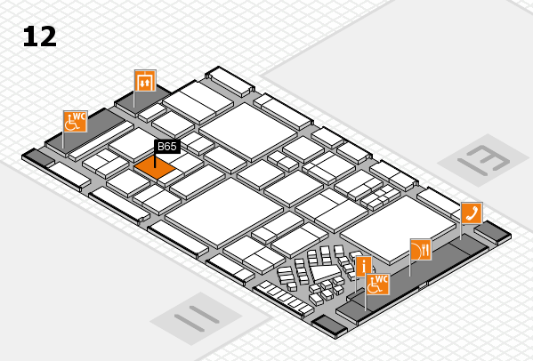 EuroShop 2017 hall map (Hall 12): stand B65