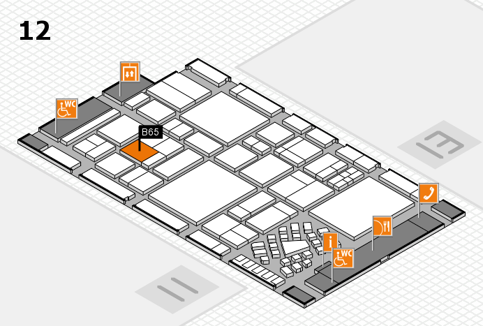 EuroShop 2017 hall map (Hall 12): stand B65